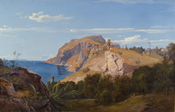Wilhelm Julius Ahlborn - A view of Capri